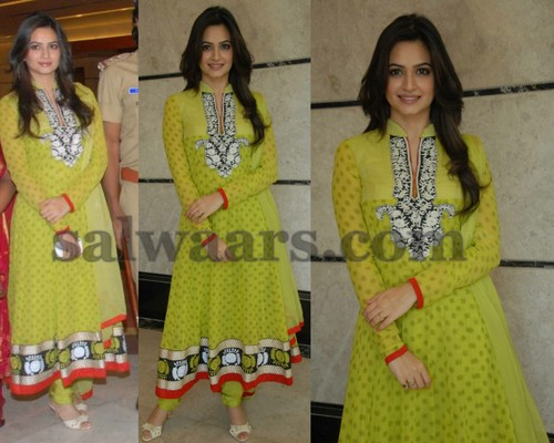 Kriti Kharbanda Collar Neck Salwar
