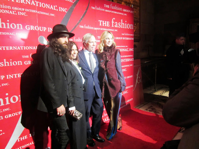 Tommy Hilfiger and his daughter Ally on the red carpet for the Fashion Group International Rising Star Awards