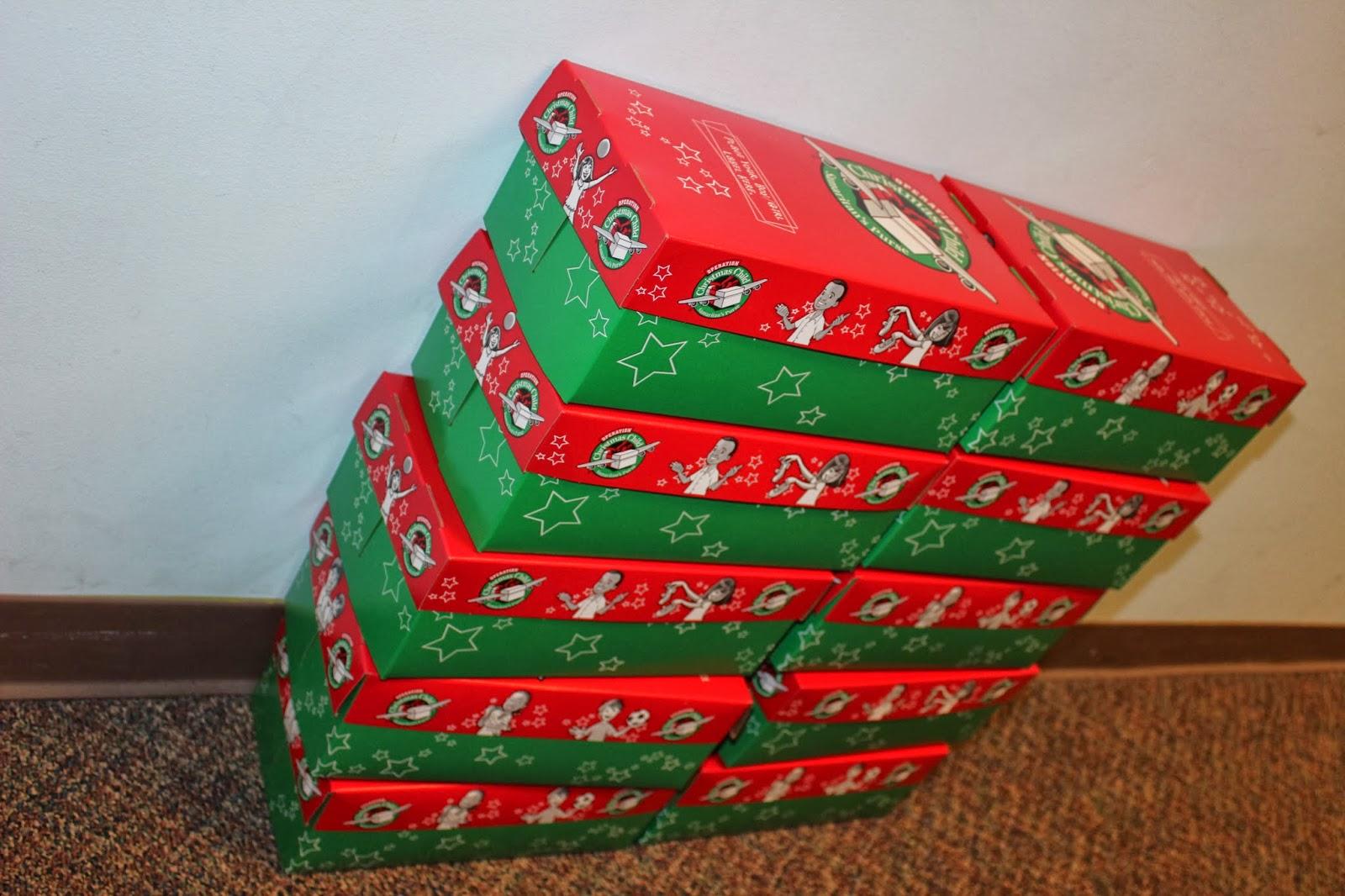 Operation christmas child shoe boxes quot let the little