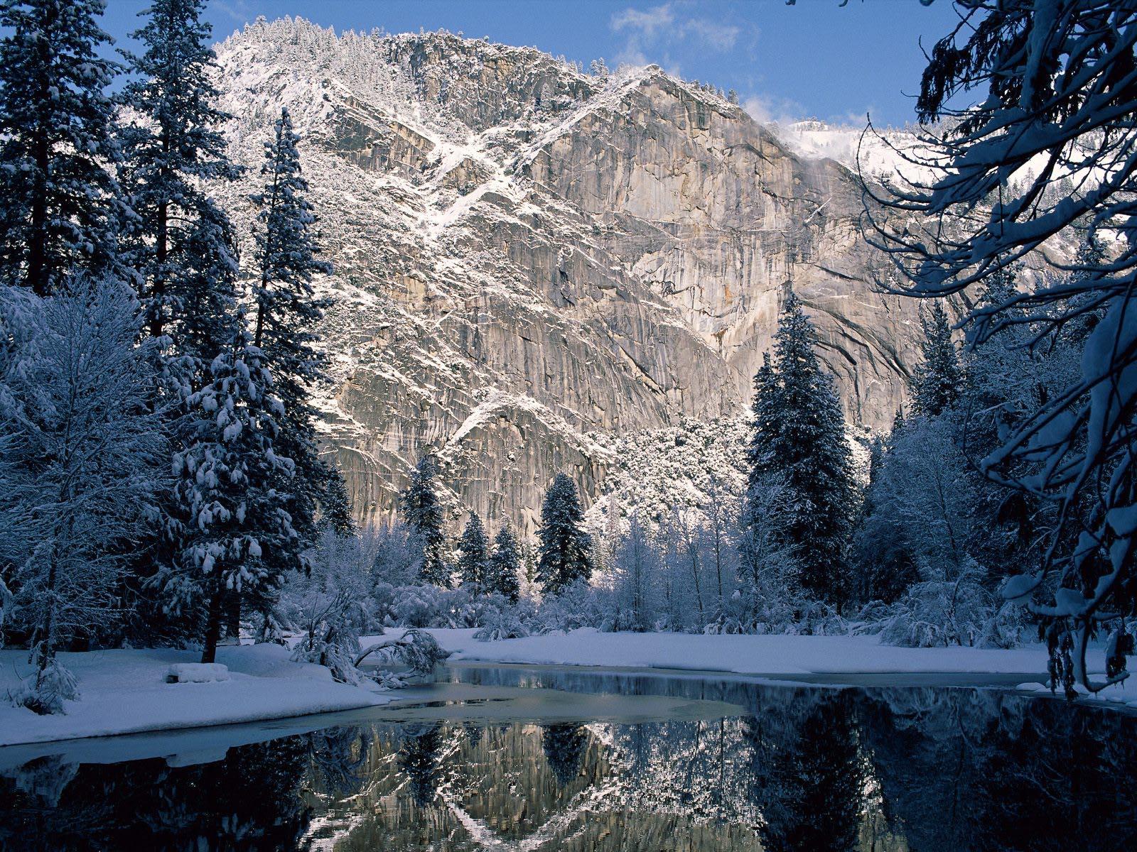 Larry 39 s ramble yosemite national park 2 for Sfondi invernali desktop