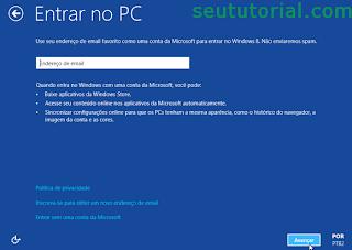 windows 8 quadrado com opções