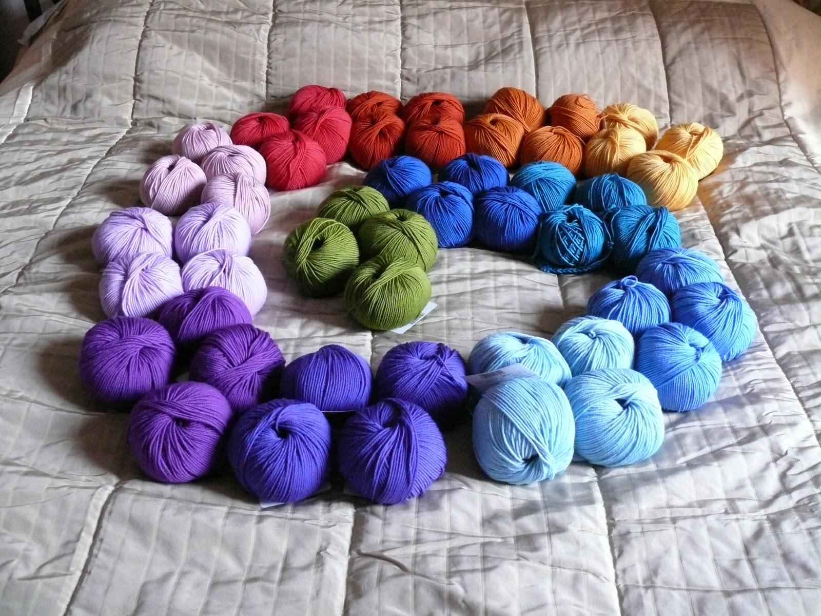 Seconda coperta patchwork all'uncinetto Lana+4-+arcobaleno
