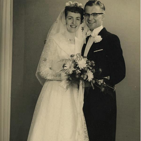 Søs og Peter Christensen, bryllupsbillede