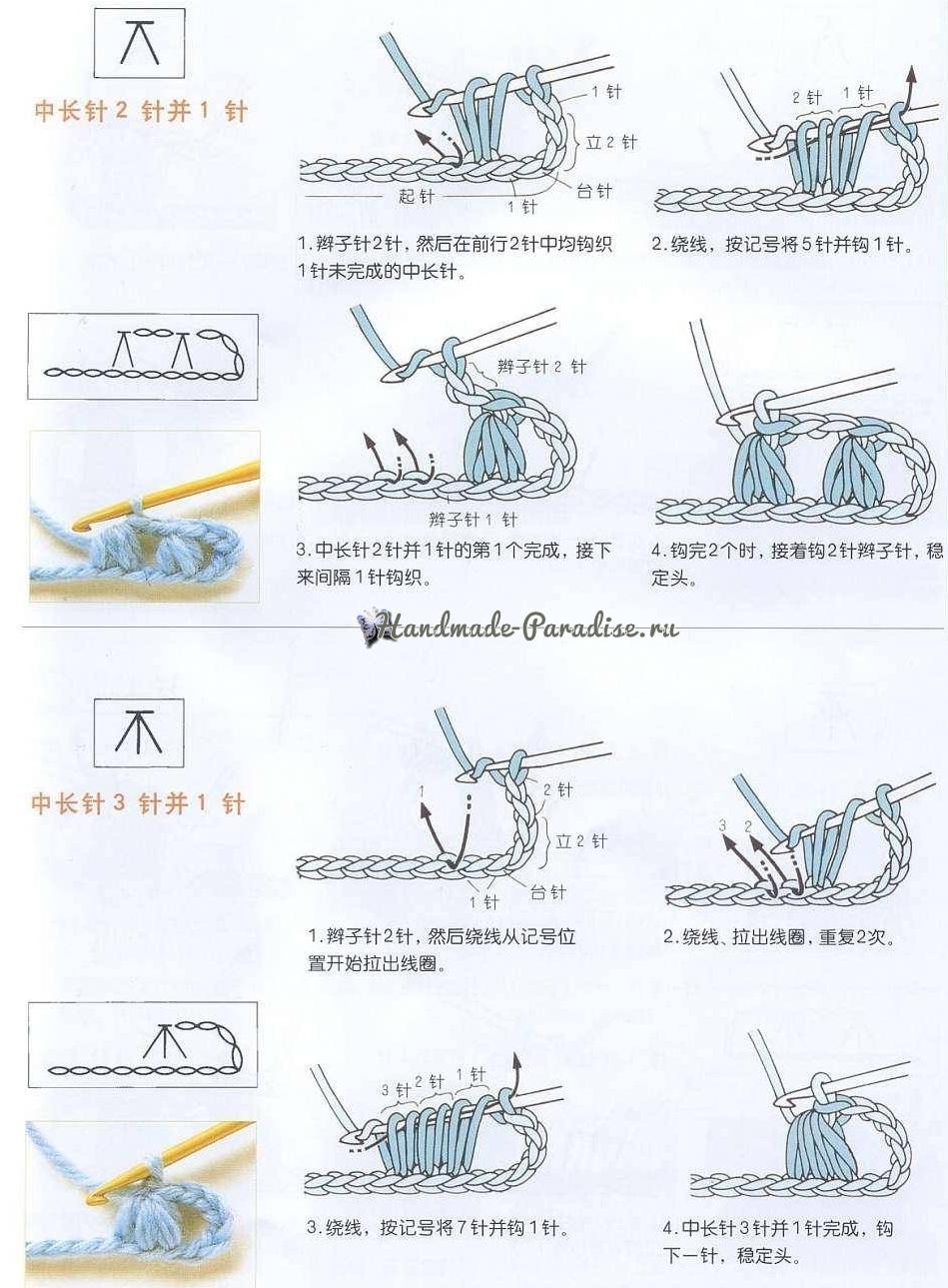 Крючок вязание схемы обучение