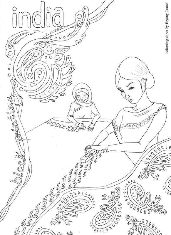 Bryony Crane Nest Childrens Colouring Pages