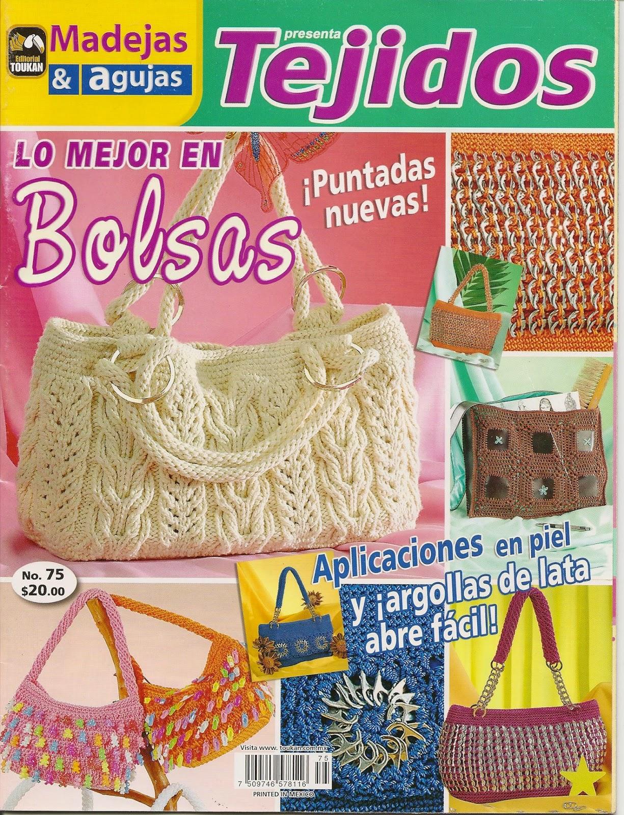 Como hacer bolsos con dos agujas revistas de crochet y - Como hacer bolsos tejidos ...