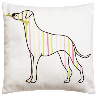 Kirstie Allsopp Bedding Top Dog Cushion. Shown in close up.
