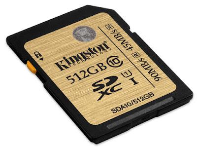 Kingston-tarjeta-512GB-amilia-SDHC/SDXC-UHS-I-Clase-10