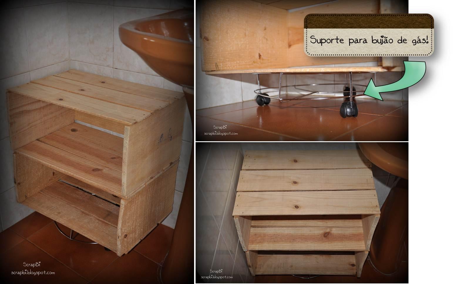 Caixas de feira arm rio do banheiro scrapbi - Como hacer puertas de armario ...