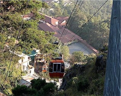 Beautiful scenery around Jagadguru Kripaluji Maharaj's ashram in Mussoorie, 2011
