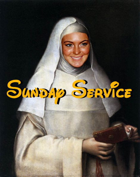 Sunday Service with Lindsay Lohan on Portis Wasp