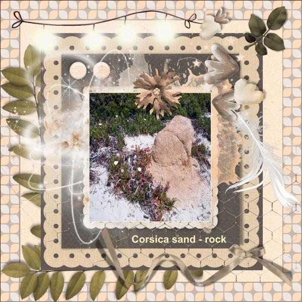 June - 2017 - Corsica's  sand - rock