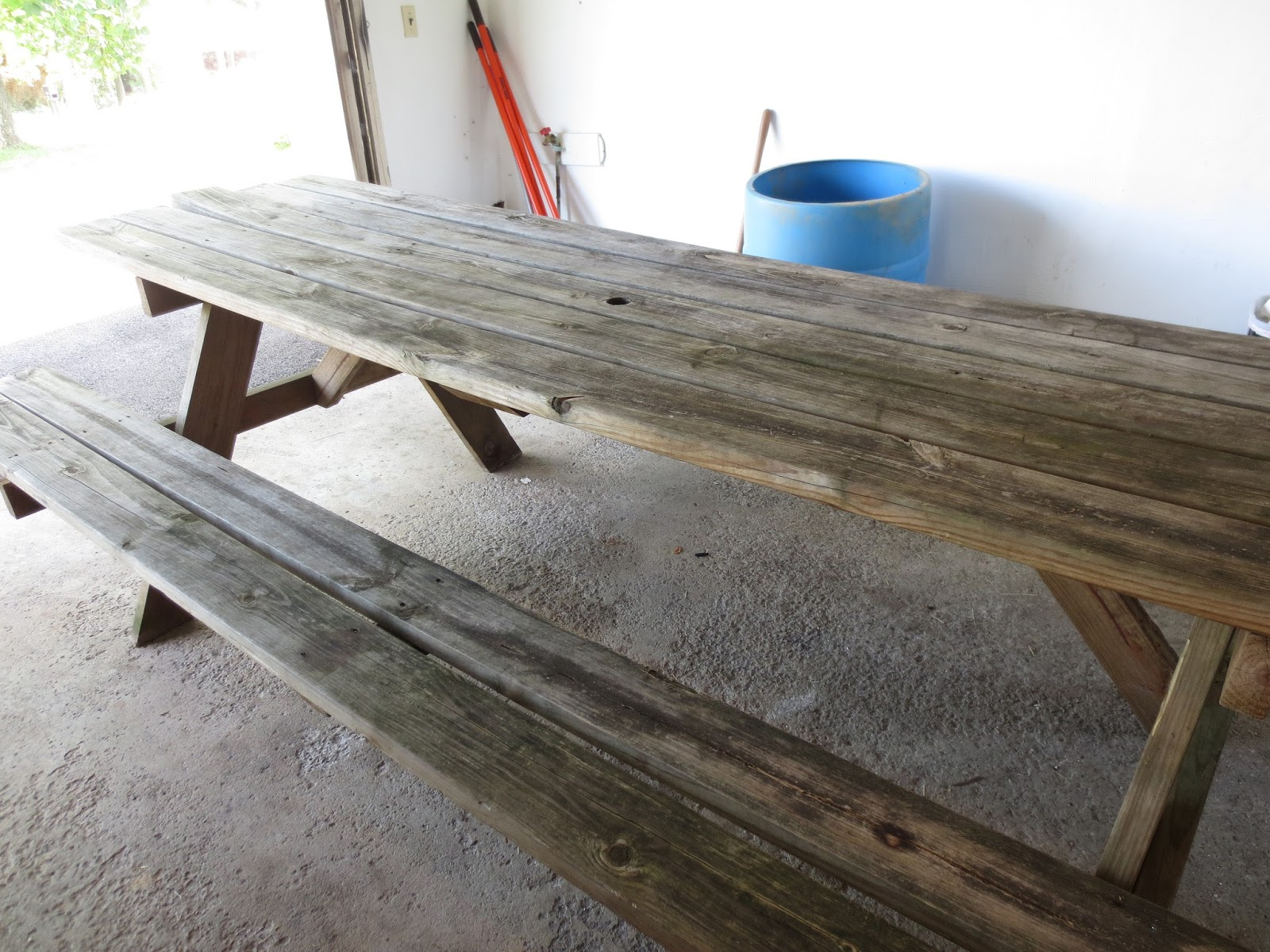 The owl with the goblet refinished picnic table for How to refinish a table with paint