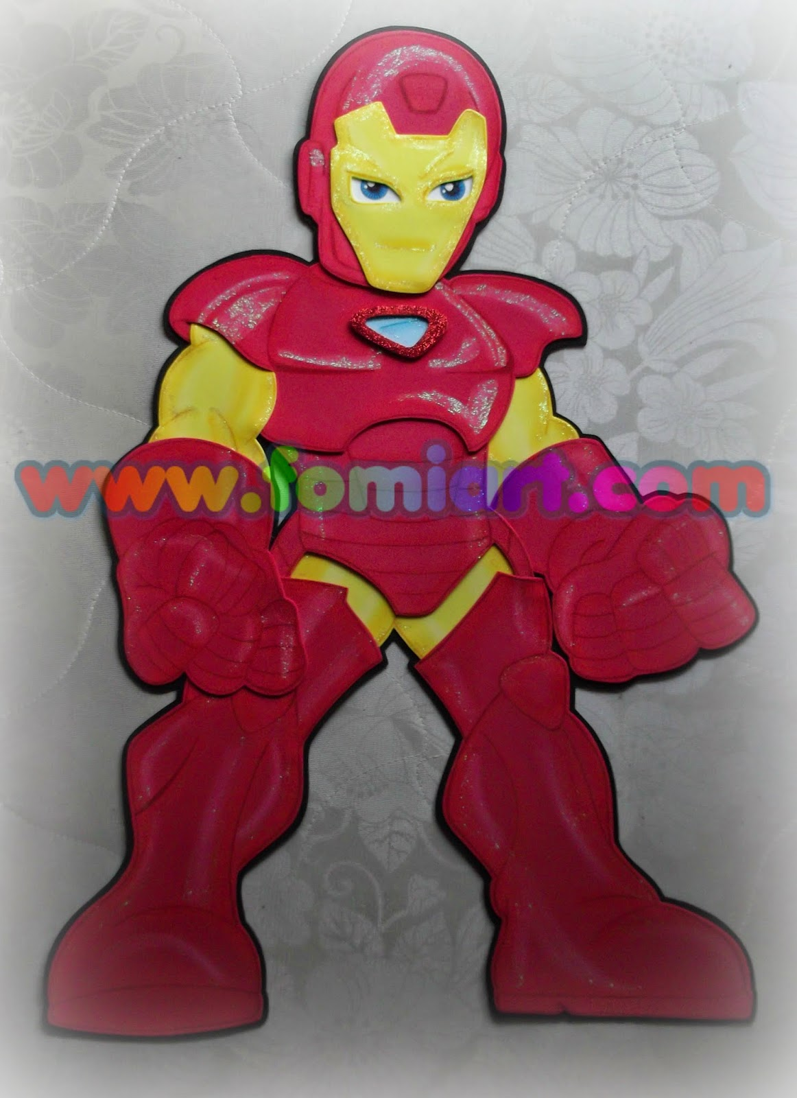 Decoracion en foamy de Iron Man