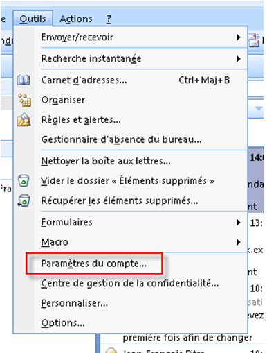 Probleme memoire outlook 2010