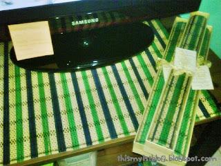 sovenir murah placemate tikar bambu