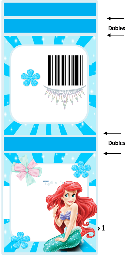 The Little Mermaid: Free Printable Matchbook Favors.