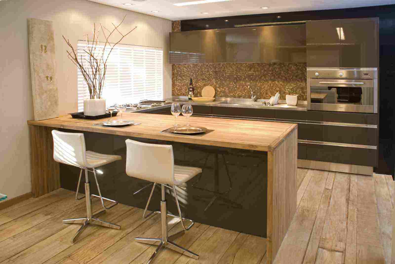 Projetos & Decoração: Cozinhas #956836 1600x1070 Bancada Banheiro Teca