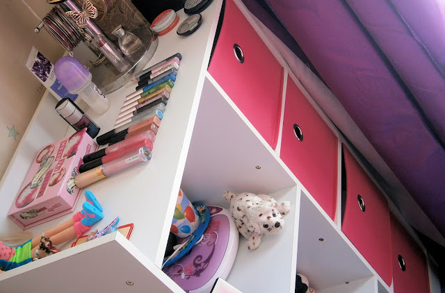 pink bedside cabinet storage ideas for girls room