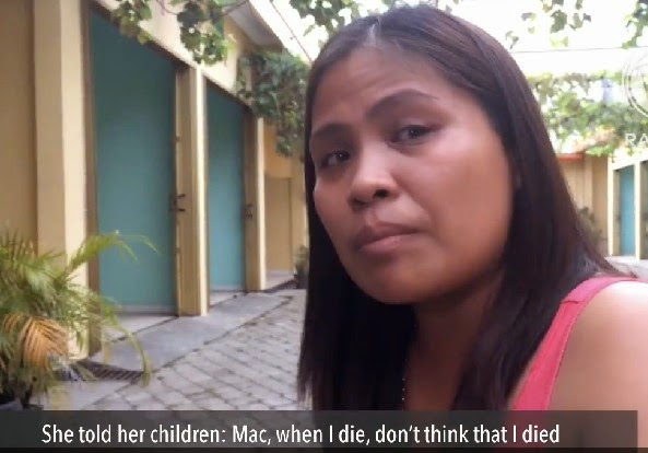 Mary Jane Veloso Told her children about execution