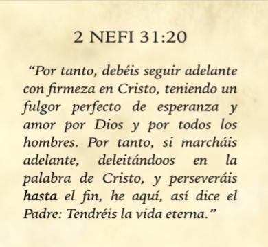Escritura de la Misíon