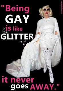 lady gaga glitter quotation