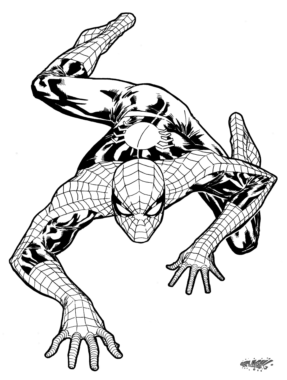 MartyCatherine Assignment 5 Colored Line Art Spiderman