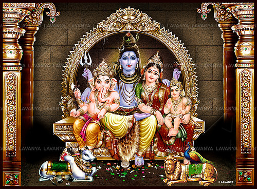 Famous Lord Shiva Family Photo for free download