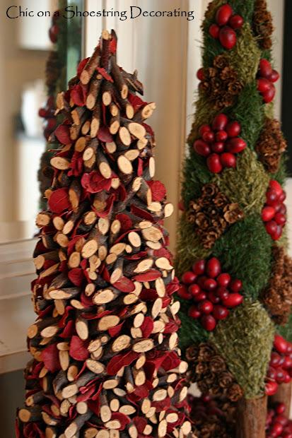 Rustic Christmas Tree Decorating