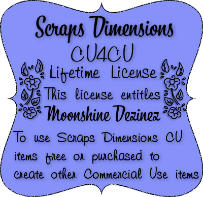 CU4CU License Scraps Dimensions