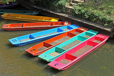 Colourful Punts on River Cherwell, Oxford