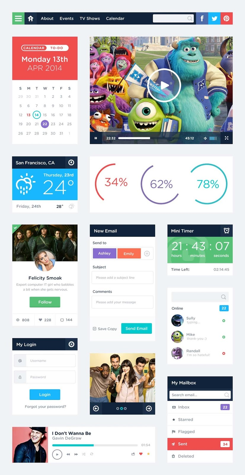 Free UI Kit Design PSD
