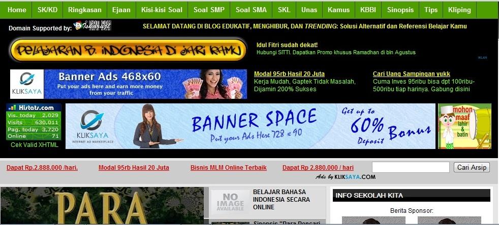 kalian dapat mempelajari contoh contoh soal obyektif bahasa indonesia