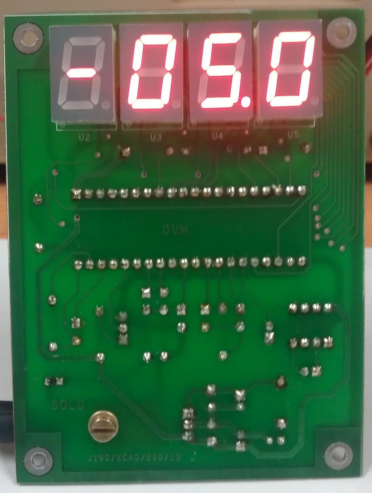 Ham Radio Mipl 2012 Icl7107 Digital Led Voltmeter Electronics Circuit Picture Hd Walls Dvm Displaying Negative Voltage