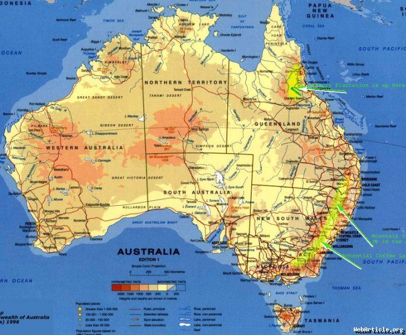 Letak Secara Garis Astronomis dan Luas Wilayah Benua Australia