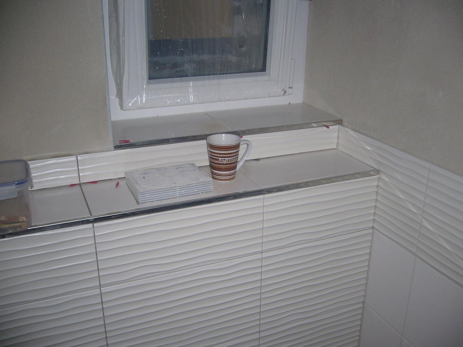 Der zähler wurde eingebaut und das gäste wc wurde weiter gefliest