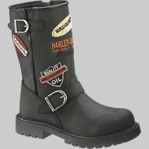 Kid Boots Harley Davidson