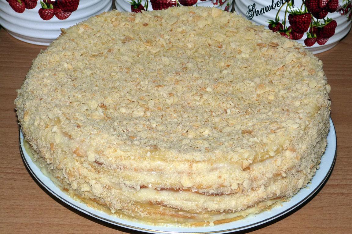 Тортов наполеон со сметанным кремом фото