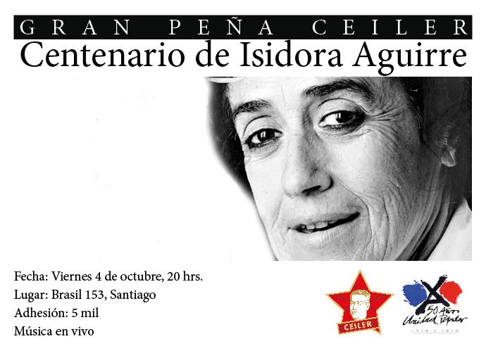 GRAN PEÑA CEILER CENTENARIO DE ISIDORA AGUIRRE