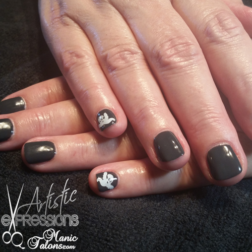 Simple Ghosts with Pink Gellac Smoked Grey and Dashica