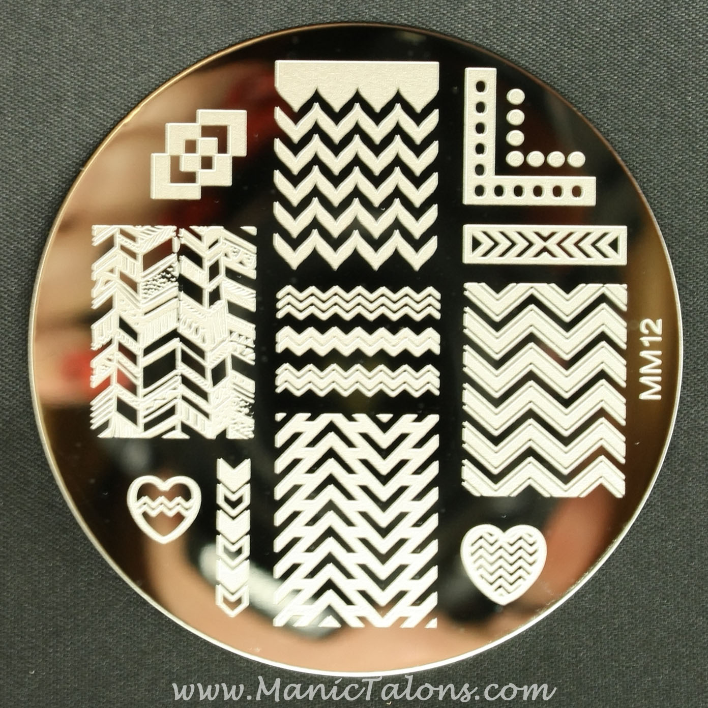Messy Mansion MM12 Chevron Plate
