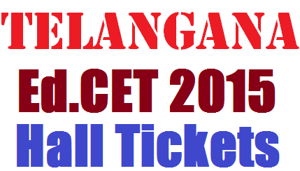 TS Ed.CET Hall Ticket 2015 Download Now
