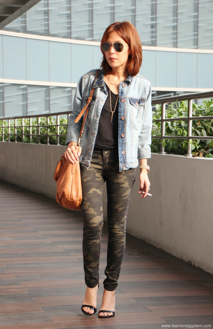 Penshoppe camo pants outfit | Fashion Eggplant