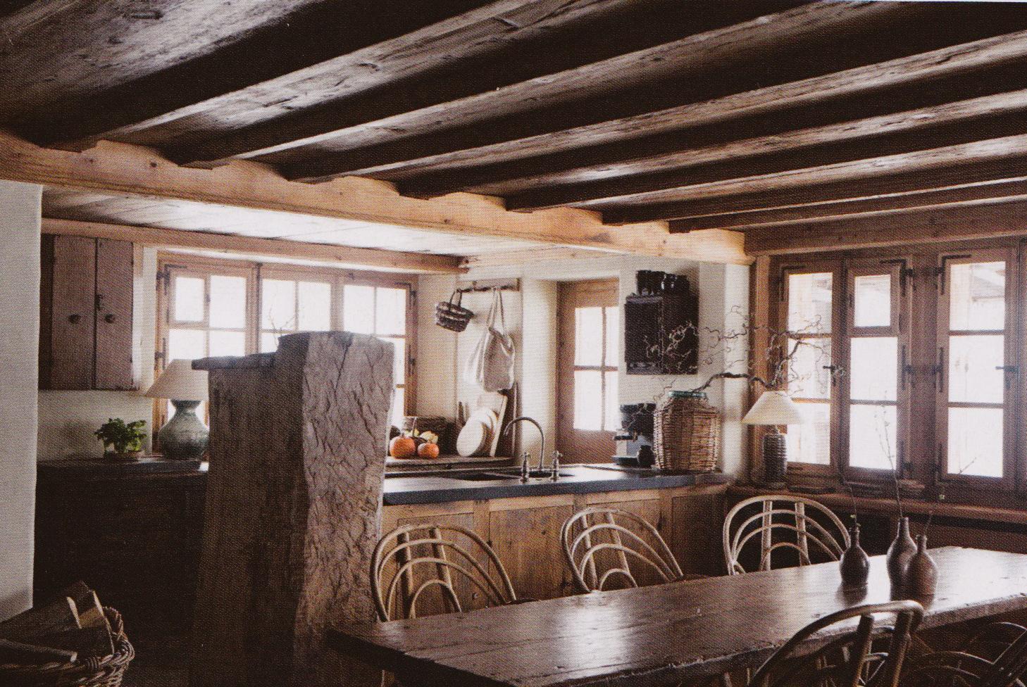 Northeast Locavore Axel Vervoordt 39 S Farmhouse In Verbier