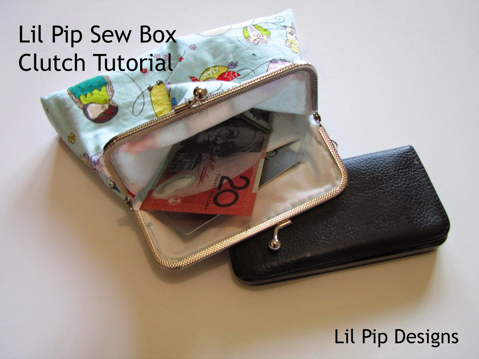 Lil Pip Designs: Lil Pip Sew Box Metal Frame Clutch Tutorial