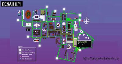 Denah dan Maps UPI Bandung