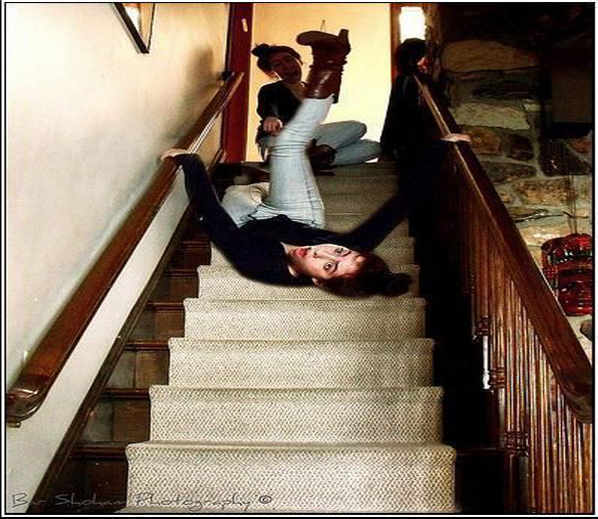 People Falling Down Different Places Creating Funny Pictures
