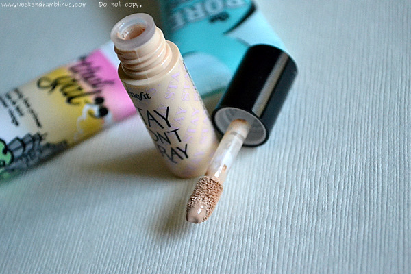 Benefit Cosmetics Stay Dont Stray Primer Concealers Eyeshadows Makeup Blog Reviews Ingredients Swatches