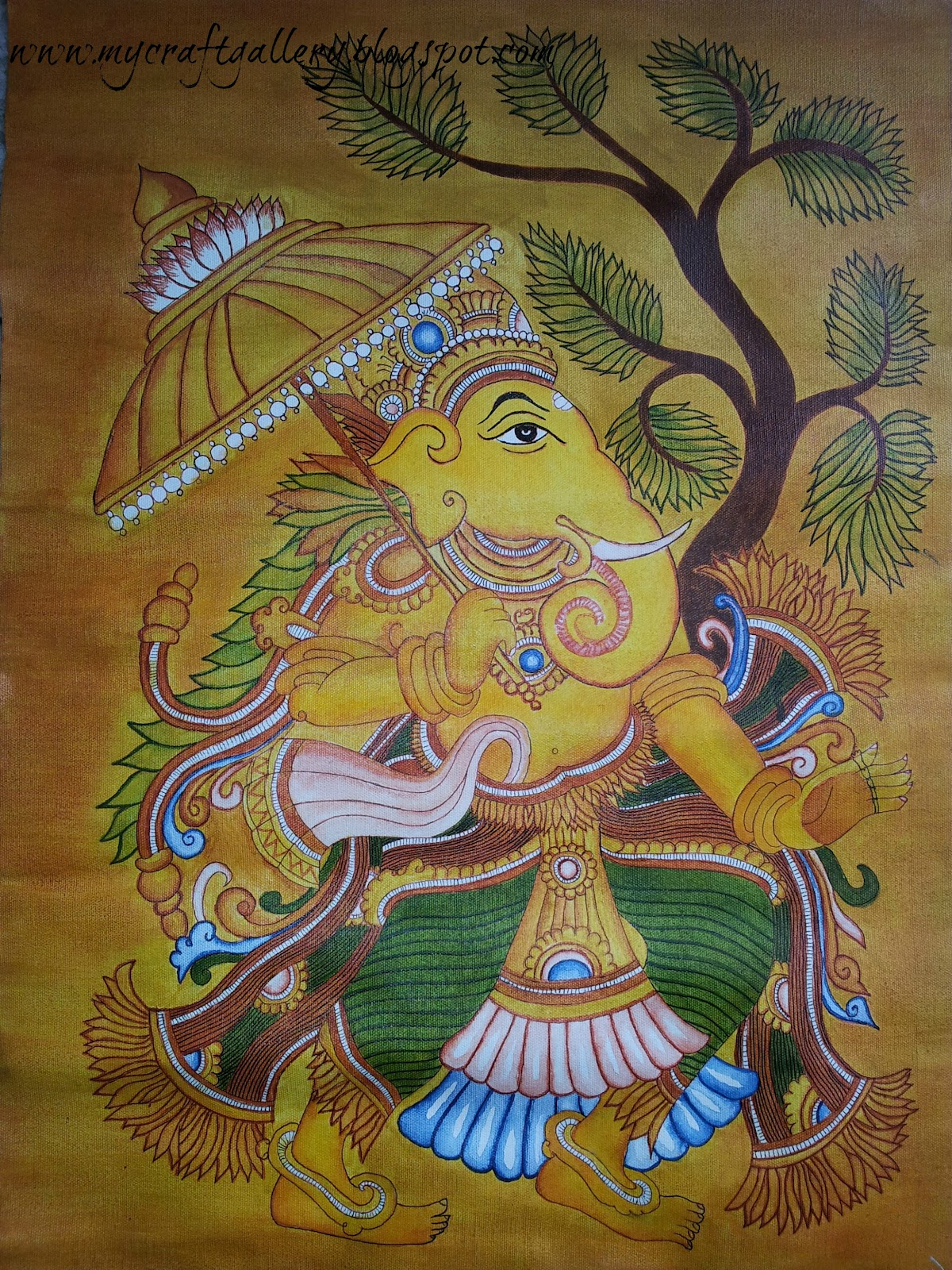 My craft gallery kerala mural painting for Canvas mural painting