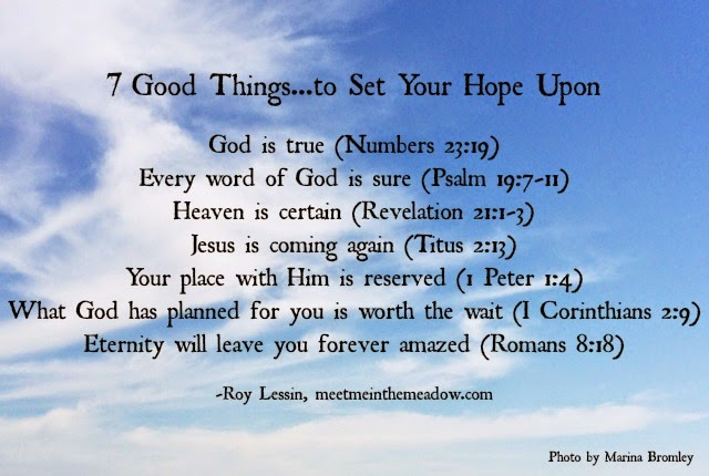 GOD quiets me with HOPE